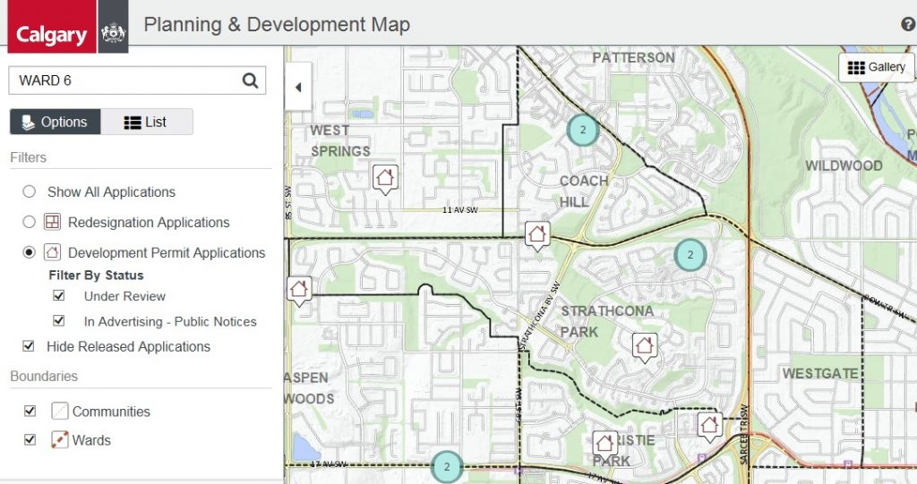 City Of Calgary Planning Development Map Calgary River Valleys